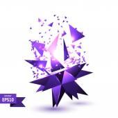Lilac abstraction cosmic explosion. Vector illustration. Technol — Stock Vector