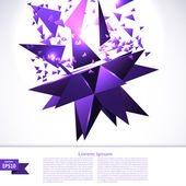 Banner with purple abstraction cosmic explosion. Vector illustra — Stock Vector