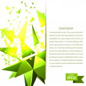 Banner with green abstraction cosmic explosion on a light backgr — Stock Vector