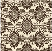 Tribal retro pattern. Basis for fabrics and wallpapers. Vector i — Stock Vector