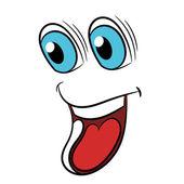 Funny cartoon face for design. Vector illustration — Stock Vector