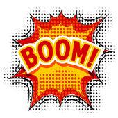 Cartoon Boom. Vector illustration. — Stock Vector