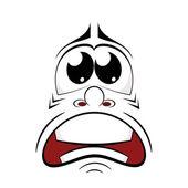 Cartoon sad face. Vector illustration — Stock Vector