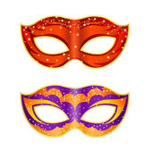 Two bright fancy mask on a white background. Isolate. Vector ill — Stock Vector