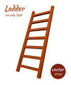 Ladder to the low poly style. The element of your design. Vector — Stock Vector