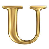 Golden letter U — Stock Photo
