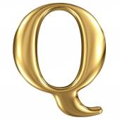 Golden lettera q — Foto Stock