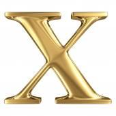 Złote litery x — Zdjęcie stockowe