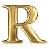 Golden letter R — Stock Photo