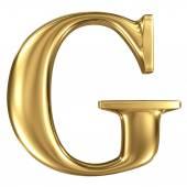 Golden letter G — Stock Photo