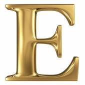 Golden letter E — Stock Photo