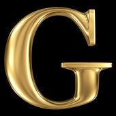 Golden 3D symbol capital letter G — Foto de Stock