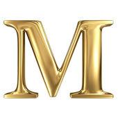 Golden letter M — Stock Photo