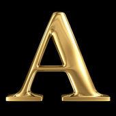 Golden 3D symbol capital letter A — Stock Photo