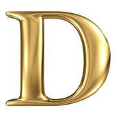 Golden letter D — Stock Photo