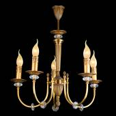 Vintage chandelier isolated on black — Stock Photo