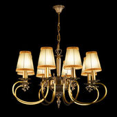 Vintage chandelier isolated on black background — Stock Photo