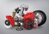 Set of parts of car. 3d render. — Stockfoto