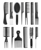 Professional hairdresser comb on an isolated background — Stock Photo