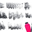 Mascara brush and strokes isolated on white — Stock Photo #54025677