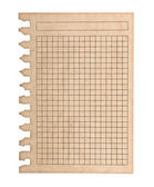 Kraft paper page notebook. textured isolated on the white backgr — Stock Photo
