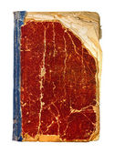Zamknięte czerwony wzór książki na na białym tle — Zdjęcie stockowe