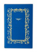Vintage book cover blue isolated on white — Stock Photo