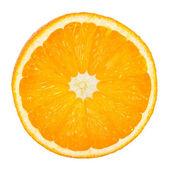 Slice of fresh orange isolated on white background — Stock Photo