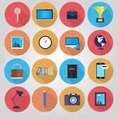 ретро стиль плакат с различными канцелярские товары. — Cтоковый вектор