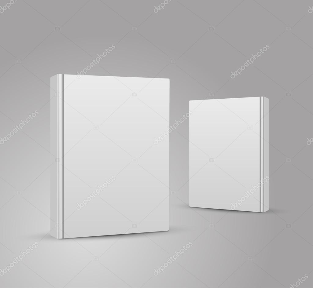 Blank Book Cover Vector Illustration Free ~ Blank book cover vector illustration gradient mesh