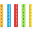 Colorful rulers — Stock Vector #61907197