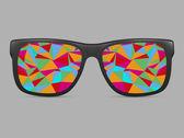 Vector glasses frame — Stock Vector
