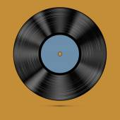 Vector illustration of a vinyl record. — Stock Vector