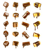 Collection of cookies and candy poured chocolate — Stock Photo