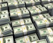 иллюстрация долларов складывает по белому фону — Стоковое фото