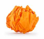 Crumpled paper in the form of fire isolated on white background — Stock fotografie