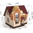 Construction house plan design blend transition illustration. Co — Stock Photo #67333637