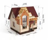 Construction house plan design blend transition illustration. Co — Stock Photo