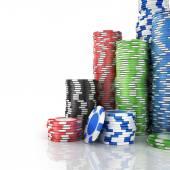 Stacks of poker chips. — Stock Photo