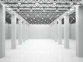 3d illustration of empty lit room — Stock Photo