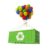 The concept of ecological transportation. Balloons are a freight — Стоковое фото