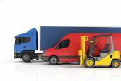 Delivery vehicles. — Stock Photo