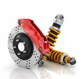 Car brakes with absorbers. Auto parts. — Stock Photo