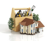 Concept of repair house. Repair and construction of the house. T — Stock Photo