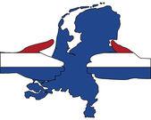 Aperto de mão holandês — Vetor de Stock