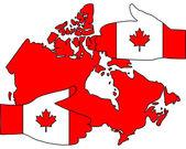 Welkom in canada — Stockvector