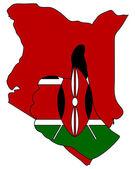 Kenia hand signaal — Stockvector