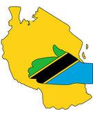 Welkom bij tansania — Stockvector