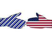 международные рукопожатие — Cтоковый вектор