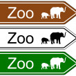 Direction sign zoo — Stock Vector #59172017